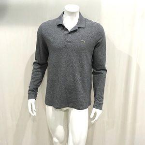Lacoste Men's Gray Long Sleeve Polo Shirt